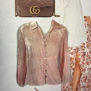 J Jill Pink Velvet Jacket Size Medium